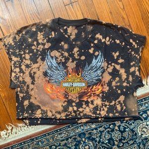 Vintage Harley Davidson Crop T-Shirt
